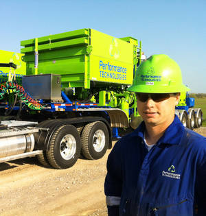 photo - Ryan Molloy is an equipment operator for Chesapeake Energy Corp. subsidiary Performance Technologies LLC. Photo by Jay F. Marks, The Oklahoman