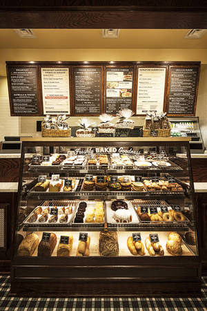 Photo -  Right: The bakery case at Corner Bakery Cafe includes freshly baked bread, cookies and other baked goods. Photos provided  <strong></strong>