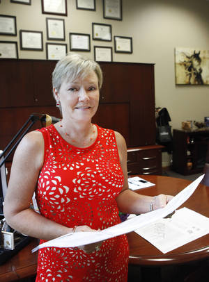Photo - Dee Hays, CEO of Engineering Excellence in Tulsa, recently named one of the fastest growing women owned biz in the U.S., Thursday, June 5, 2014.   Photo by David McDaniel, The Oklahoman