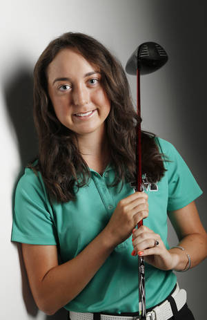 Photo -                    Bishop McGuinness' Alexis Sadeghy will take her golf talents to Oklahoma State next season. The senior ranks 41st nationally in the class of 2014.                    Photo by Doug Hoke, The Oklahoman
