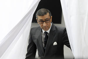 Photo - New President and Chief Executive Officer of Nokia Rajeev Suri attends the press conference where Nokia announced first quarter earnings in Espoo, Finland Tuesday, April 29, 2014. (AP Photo/Lehtikuva, Heikki Saukkomaa) FINLAND OUT,  NO SALES