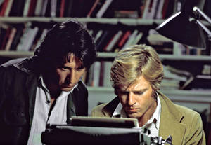 "Photo - In this file photo provided by Warner Bros., actors Robert Redford, right, and Dustin Hoffman appear in their roles as reporters Bob Woodward and Carl Bernstein, respectively, in the 1976 film ""All the President's Men."" Personal details about the film and Watergate enliven a Discovery network documentary, ""All the President's Men Revisited"" which airs Sunday at 8 p.m. ET. (AP Photo/Warner Bros., file)"