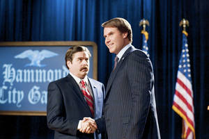 "Zach Galifianakis, left, and Will Ferrell play opposing political candidates in ""The Campaign."" WARNER BROS. PHOTO"