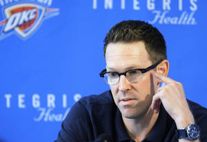 Photo - Thunder general manager Sam Presti is hooked on VH1's music documentary series 'Classic Albums.' Photo by Sarah Phipps, The Oklahoman