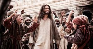 "Photo - Actor Diogo Morgado portrays Jesus in a scene from the 10-part cable television series ""The Bible,"" premiering Sunday on the History Channel. Photo provided <strong></strong>"