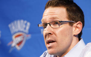 Photo - Oklahoma City Thunder general manager Sam Presti could be very active the this draft day.  By Paul Hellstern, The Oklahoman