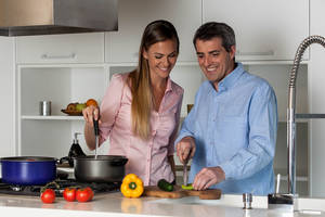 Preparing food at home is one of the most impactful things you can do to improve your health. Cooking can be daunting for some, but it doesn't need to be. Start simply and add skills as you go to improve your meals and health. (DepositPhotos)