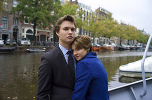 """Photo -  This image released by 20th Century Fox shows Ansel Elgort, left, and Shailene Woodley in a scene from """"The Fault In Our Stars.""""  AP Photo  <strong>James Bridges</strong>"""