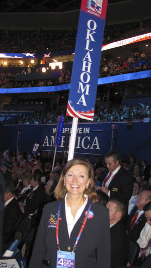 Photo - Business owner Brenda Jones Barwick attended the recent Republican National Convention as an alternate Oklahoma delegate. PHOTO PROVIDED <strong></strong>