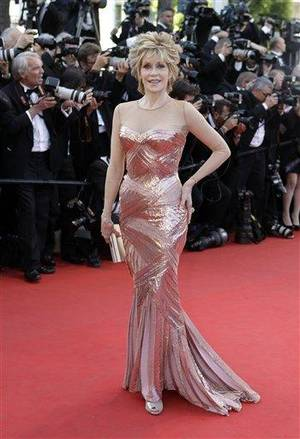 Photo - Actress Jane Fonda arrives for the opening ceremony and screening of Moonrise Kingdom at the 65th international film festival, in Cannes, southern France, Wednesday, May 16, 2012. (AP Photo/Lionel Cironneau)