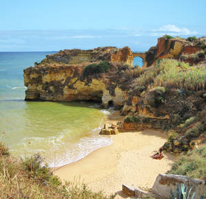 Photo -  Pristine, hidden beaches along the south coast are the main attraction in Portugal's Algarve. (photo: Rick Steves)