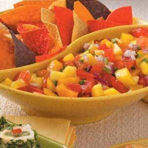 Photo - Fresh peach mango salsa