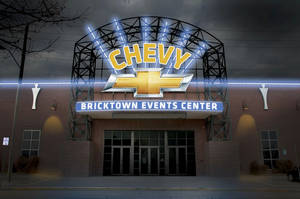 Photo - Although the sign won't be installed until summer, this is what the Bricktown Events Center, 429 E California, will look like. A group of central Oklahoma Chevrolet dealers recently bought the naming rights. Drawing provided