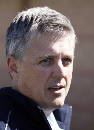 Photo - Houston Astros general manager Jeff Luhnow speaks during a media availability at their spring training baseball facility, Saturday, Feb. 15, 2014, in Kissimmee, Fla. (AP Photo/Alex Brandon)