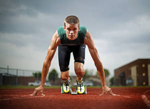 photo - Edmond Santa Fe track athlete Gunnar Nixon poses for a portrait in Edmond, Okla., Wednesday, May 12, 2010.  Photo by Bryan Terry, The Oklahoman 