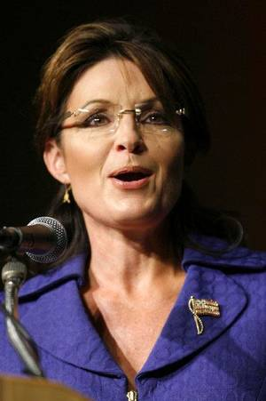 photo - Former Alaska Governor Sarah Palin speaks at the Oklahoma Council of Public Affairs annual Liberty Gala at the Convention Center in Tulsa, Okla. Wednesday Sept. 15, 2010. (AP Photo/The Tulsa World, Matt Barnard)