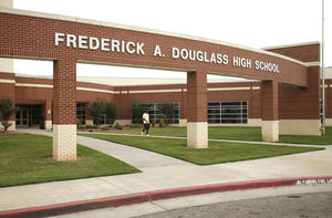 Photo - Douglass High School is shown Tuesday. PHOTO BY PAUL HELLSTERN, THE OKLAHOMAN