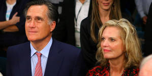 Photo - LAS VEGAS, NV - DECEMBER 08:  Former Republican presidential candidate and Massachusetts Gov. Mitt Romney and wife Ann Romney sit ringside before Manny Pacquiao takes on Juan Manuel Marquez in their welterweight bout at the MGM Grand Garden Arena on December 8, 2012 in Las Vegas, Nevada.  (Photo by Al Bello/Getty Images)