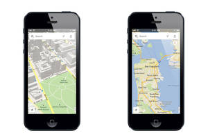 photo - This image made available by google, shows the new Google Maps application, on Thursday, Dec. 13, 2012. The world&#039;s most popular online mapping system returned late Wednesday with the release of the Google Maps iPhone app. The release comes nearly three months after Apple Inc. replaced Google Maps as the device&#039;s built-in navigation system and inserted its own map software into the latest version of its mobile operating system. (AP Photo/Google)