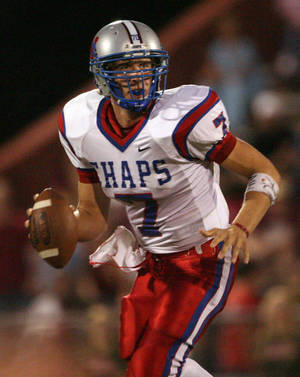 Photo - FILE - In this Sept. 29, 2006 file photo, Westlake High School quarterback Nick Foles looks for a receiver against Austin High during a football game in Austin, Texas. Ten years after Drew Brees led Westlake High School to victory in the Texas state championship game, Foles broke several of his passing records but lost in the title game. The two quarterbacks meet with far more at stake _ Saints vs. Eagles in an NFC wild-card game.   (AP Photo/Austin American Statesman, Jay Janner, File) AUSTIN CHRONICLE OUT, COMMUNITY IMPACT OUT, INTERNET MUST CREDIT PHOTOGRAPHER AND STATESMAN.COM