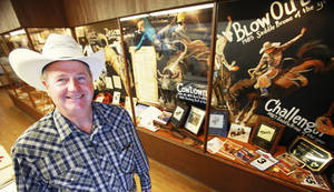 Photo - Rodeo stock contractor Bennie Beutler at the Beutler Rodeo Hall in Elk City. Photo provided