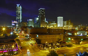 Photo - Downtown Oklahoma City's skyline is seen recently at night.  Photo by Chris Landsberger, The Oklahoman