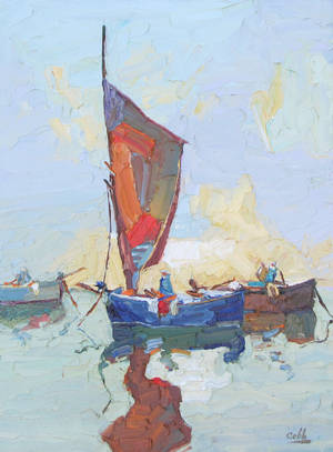 "Photo - ""Spanish Boat,"" an oil by Jim Cobb   Photo provided <strong>Photo provided</strong>"