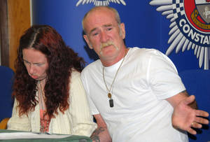 "Photo - FILE - In this May 16, 2012 file photo, Mick Philpott, right, and wife Mairead react during a news conference at Derby Conference Centre following a fire at their home  which claimed the lives of six of his children, Derby, England. A judge sentenced the Mick Philpott father of six children who died in a house fire to a minimum of 15 years in prison Thursday April 4, 2013, after describing him as the ""driving force"" behind the blaze.  Judge Kathryn Thirlwall leveled most of the responsibility for the fire on Mick Philpott, describing him as a dangerous man. His wife, Mairead, Philpott received 17 years for manslaughter as did a family friend, Paul Mosley, who helped in the plot.   (AP Photo/PA, Rui Vieira, File) UNITED KINGDOM OUT, NO SALES, NO ARCHIVE"