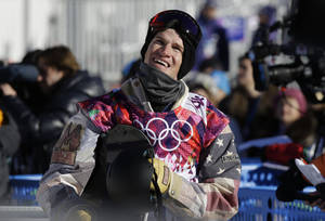 Photo - United States' Charles Guldemond waits for his score after a run during men's snowboard slopestyle qualifying at the Rosa Khutor Extreme Park ahead of the 2014 Winter Olympics, Thursday, Feb. 6, 2014, in Krasnaya Polyana, Russia. (AP Photo/Andy Wong)