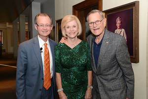 Photo -     Bob Blackburn, Judy and Tom Love. Photo by David Faytinger, for The Oklahoman  <strong> -  OPUBCO </strong>