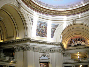 Photo - Sunlight coming through windows in the state Capitol dome are having an adverse effect on murals and other artwork on and above the fourth-floor rotunda. PHOTO PROVIDED
