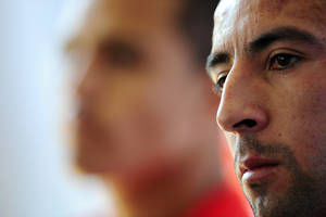 Photo - Chile's Mauricio Isla looks on during a press conference  at Toca da Raposa 2 center in Belo Horizonte, Brazil, Thursday, June 26, 2014. (AP Photo/Manu Fernandez)