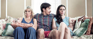 "Photo - From left, Ari Graynor, Justin Long and Lauren Miller star in ""For A Good Time, Call."" Provided photo"