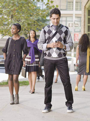 Photo - Injuries to pedestrians on cell phones is on the increase. <strong>Aidon</strong>