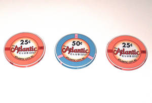 Photo - This March 13, 2012 photo shows 25 and 50-cent gambling chips at the Atlantic Club Casino Hotel in Atlantic City NJ. Competitors are already trying to lure away customers and employees of the Atlantic Club, which will shut down on Jan. 13. (AP Photo/Wayne Parry)