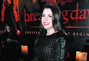 "Photo - Stephenie Meyer arrives to the world premiere of ""The Twilight Saga: Breaking Dawn - Part 1"" on Monday, Nov. 14, 2011, in Los Angeles. (AP Photo/Matt Sayles)"