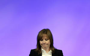Photo - General Motors CEO Mary Barra addresses employees at the automaker's vehicle engineering center in Warren, Mich., Thursday, June 5, 2014. Barra said 15 employees have been fired and five others have been disciplined over the company's failure to disclose a defect with ignition switches that is now linked to at least 13 deaths. (AP Photo/Carlos Osorio)