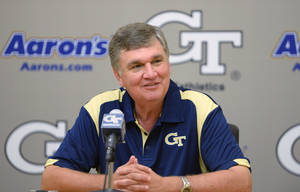 Photo - Georgia Tech head coach Paul Johnson sounds a lot like Bob Stoops when he talks about the SEC. AP PHOTO