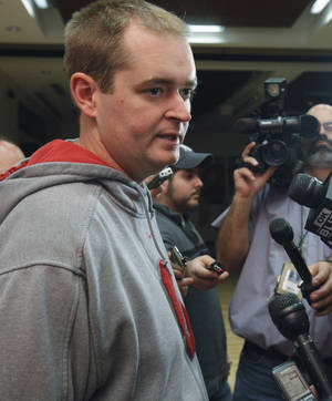 Photo - OU co-offensive coordinator Josh Heupel is ready for the pressure. Photo by Steve Sisney, The Oklahoman