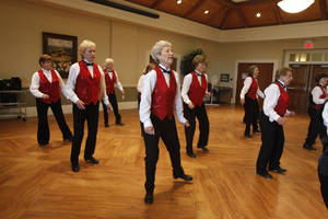 Photo - Members of The Senior Sensations tap dancing group perform at the Edmond Senior Center. The dancers range in age from 62 to 92.  Photo by, Aliki Dyer, The Oklahoman <strong>Aliki Dyer - The Oklahoman</strong>