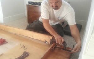 Photo - If wood cracks, repair with wood glue and clamp overnight, says home improvement expert Chris Tice. <strong> - PROVIDED</strong>
