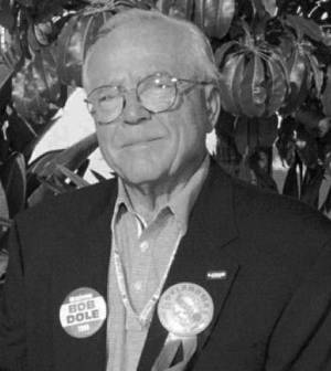 Photo - In this 1996 file photo, Clyde Wheeler is shown at the Republican National Convention in San Diego. <strong> - Oklahoman File Photo</strong>