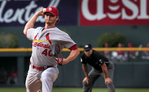 Photo - St. Louis Cardinals starter Shelby Miller (40) pitches against the Colorado Rockies in the first inning of a baseball game in Denver on Tuesday, June 24, 2014. (AP Photo/Joe Mahoney)