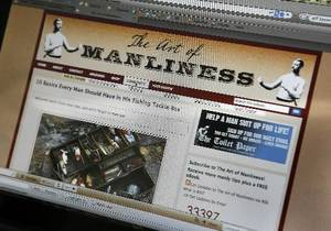 "File photo - Brett McKay and Kate McKay's web site ""The Art of Manliness"", Friday, May 15, 2009. Photo By David McDaniel"