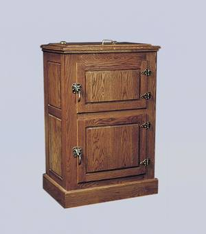 photo - An oak ice box. Photo provided