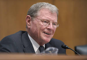 Photo - U.S. Sen. Jim Inhofe <strong>Susan Walsh - AP File Photo</strong>