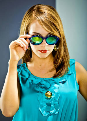 Photo - Betsey Johnson aviator-style sunglasses with colored chome lens from Dillard's. Photo by Chris Landsberger, The Oklahoman.