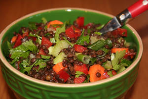 Photo - Lentil salad is easy, versatile, delicious and good for your health. <strong>SHERREL JONES - THE OKLAHOMAN</strong>