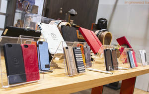 photo - T-Tech by Tumi mobile accessories are seen Tuesday at the 2013 International CES Show. The products are distributed by Oklahoma City-based Jasco Products.