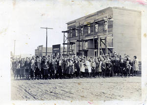 Photo - Children are seen at a school in Anadarko. The Anadarko School District now has a student population of about 2,000.  Photo courtesy of the Oklahoma Historical Society